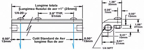 Aluminum Air Knife Dimensions
