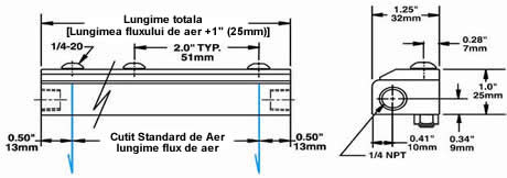 Stainless Steel Air Knife Dimensions